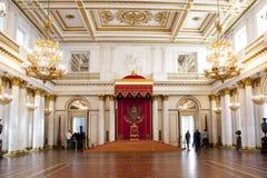Hall de trône de hall de George grand du St Petersbourg de palais d'hiver Image libre de droits