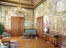 Hall de travail vivant dans l'intérieur de l'hôtel de ville de Barcelone Photos libres de droits