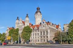 Hall de ville nouvelle (Neues Rathaus) à Leipzig image stock
