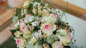 Hall decoration with fresh flowers Royalty Free Stock Photos