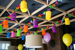 Hall decoration under party Royalty Free Stock Photos