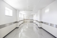 Hall of deep hospital Stock Photography