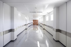 Hall of deep hospital Royalty Free Stock Photos