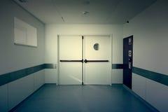 Hall of deep hospital Stock Photo