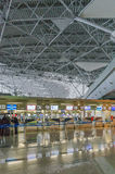 Hall of departures at the airport Vnukovo Royalty Free Stock Photography
