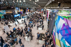 Hall 2 an der CeBIT-Informationstechnologiemesse Stockfotos