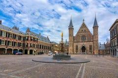 Hall des chevaliers Ridderzaal dans la cour du parlement néerlandais de Binnenhof, la Haye, Pays-Bas photo stock