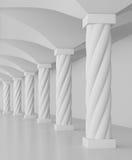 Hall des colonnes illustration stock