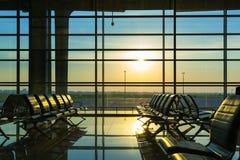 Hall des Flughafens Stockbilder
