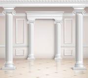 Hall Design clásico Imágenes de archivo libres de regalías