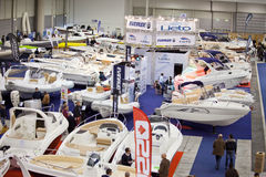 The Hall Of Dinghies-Big Blue Sea Expo,Rome 2011 Stock Image