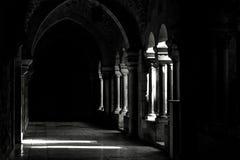 Dark hall. Hall with drama dark shadows Stock Photos