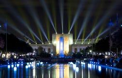 Hall du Texas d'état et esplanade allumée photographie stock libre de droits