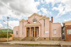 Hall of the Dutch Reformed Church in Zastron. ZASTRON, SOUTH AFRICA - APRIL 1, 2018: Hall of the Dutch Reformed Church in Zastron in the Free State Province Royalty Free Stock Images
