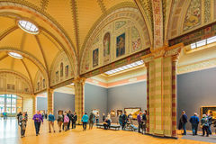 Hall at the Dutch Rijksmuseum with famous paintings of Vermeer, Stock Image