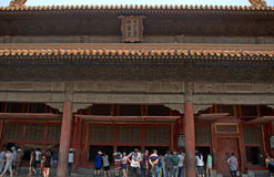 Hall of Earthly Tranquility in the Forbidden City, Beijing, Chin Stock Photos