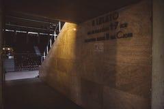 Hall am Eingang zum Sportzentrum Gerevich Aladar Nemzeti in Budapest-Projekt Budapest 100 lizenzfreies stockbild