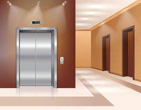 Hall with elevator Stock Image