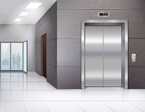 Hall with elevator Royalty Free Stock Images