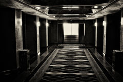 The hall of the elevators at the hotel Stock Photo