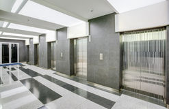 Hall with  elevators. Royalty Free Stock Photos
