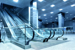 Hall with escalator Royalty Free Stock Photo