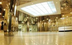 Hall with escalators Royalty Free Stock Photo