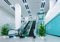 Hall and escalators Royalty Free Stock Photography