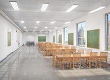 Hall et salle de classe de lecture à l'école Photos libres de droits