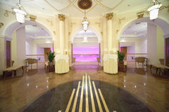 Hall with exits to balcony in Hotel Ukraine Royalty Free Stock Image