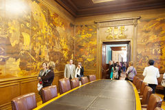 Hall Expansion Ciudadana of city hall of Barcelona Stock Images