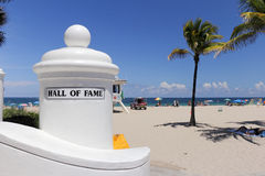 Hall of Fame Beach Entry Sign Stock Images