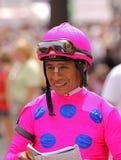 Hall of Fame-Jockey Edgar Prado Stockbilder