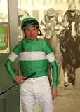 Hall of Fame-Jockey Kent Desormeaux Stockfotografie