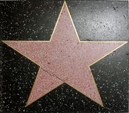 Hall of fame star. In hollywood Royalty Free Stock Image