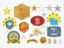 Hall of famer badges Royalty Free Stock Photography