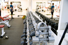 Hall for fitness Stock Image