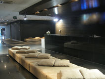 Hall five-star hotel. Style hi-tech. Luxury lounge five-star hotel. Style hi-tech Stock Photography