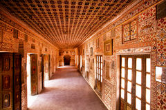 Hall with frescoes on walls inside 16th century fort Royalty Free Stock Photos