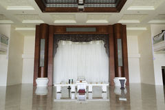 The hall of funeral parlor. Funeral parlor in amoy city, china Stock Photography