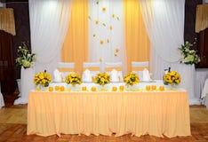 Hall-Gaststätte wird verziert Stockbild