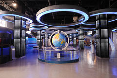 The Hall of Geographic & Astronomic Phenomena. In  Sichuan Science and Technology Museum Royalty Free Stock Photos