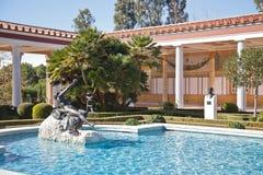 Hall Getty villa, Malibu, Kalifornien arkivbild