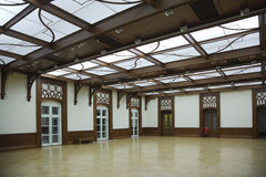 Hall with glass roof and laminate Royalty Free Stock Photo