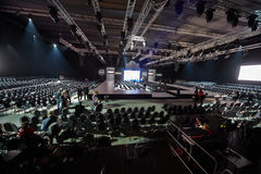 Hall in Gostiny Dvor during Volvo Fashion Week Stock Image
