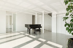 Hall with grand piano Royalty Free Stock Photos