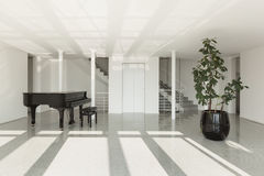 Hall with grand piano Stock Photo
