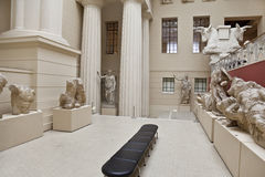 The hall of Greek art  in the Pushkin Museum of Fine Arts Royalty Free Stock Photo