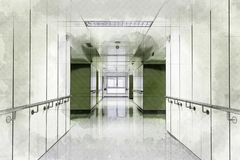 Hall of a health hospital royalty free stock image