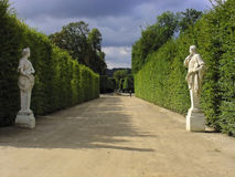 Hall of hedges in gardens of Versailles Stock Photo